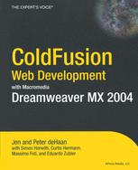 Image of ColdFusion Web Development with Macromedia Dreamweaver MX 2004
