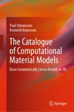The Catalogue of Computational Material Models: Basic Geometrically Linear Models in 1D