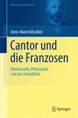Cantor und die Franzosen - Klaus Volkert; Anne-Marie Décaillot