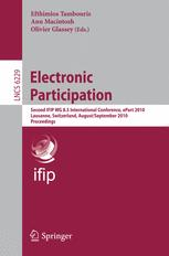 Electronic Participation - Efthimios Tambouris; Ann Macintosh; Olivier Glassey
