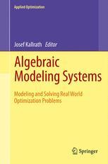 Algebraic Modeling Systems - Josef Kallrath
