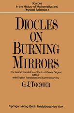 DIOCLES, On Burning Mirrors - G. J. Toomer; G. J. Toomer; G. J. Toomer