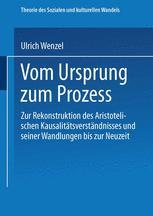 Vom Ursprung zum Prozeß - Ulrich Wenzel