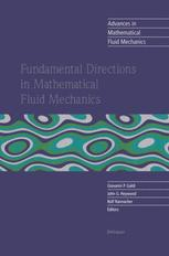 Fundamental Directions in Mathematical Fluid Mechanics - Giovanni P. Galdi; John G. Heywood; Rolf Rannacher