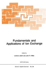 Fundamentals and Applications of Ion Exchange - L. Liberti; John R. Millar