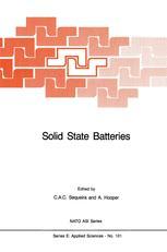 Solid State Batteries - César A.C. Sequeira; A. Hooper