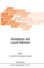 Amorphous and Liquid Materials - E. Lüscher; G. Fritsch; Gianni Jacucci