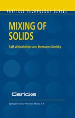Mixing of Solids - Ralf Weinekötter; H. Gericke